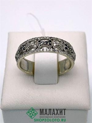 Кольцо из золота 3,44 гр. с бриллиантами, 17 размер