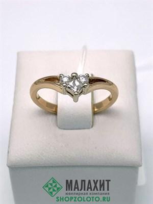Кольцо из золота 2,59 гр. с бриллиантами, 17 размер