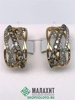 Серьги из золота 5,26 гр. с бриллиантами