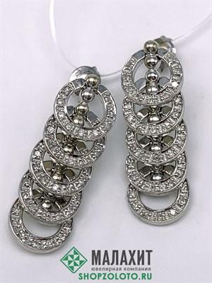 Серьги из золота 11,1 гр. с бриллиантами