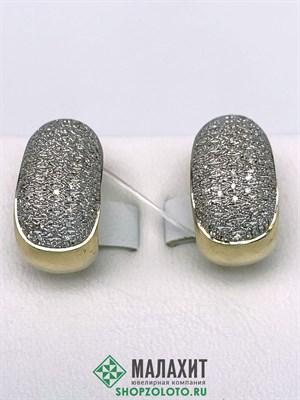 Серьги из золота 6,51 гр. с бриллиантами