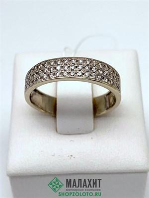 Кольцо из золота 3,85 гр. с бриллиантами, 18 размер
