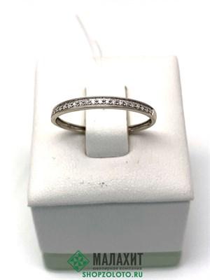 Кольцо из золота 0,68 гр. с бриллиантами, 17,5 размер