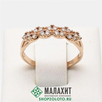 Кольцо из золота 1,73 гр., 17 размер