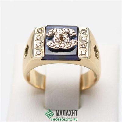 Кольцо из золота 7,81 гр. с бриллиантами, 18 размер