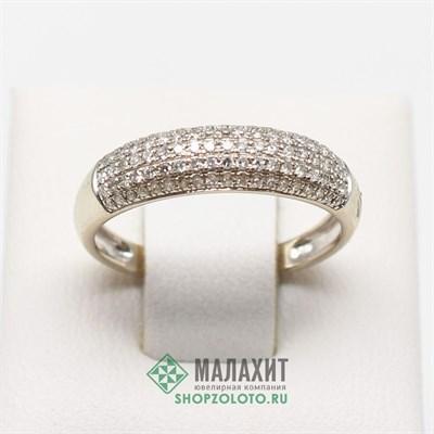 Кольцо из золота 2,09 гр. с бриллиантами, 17 размер