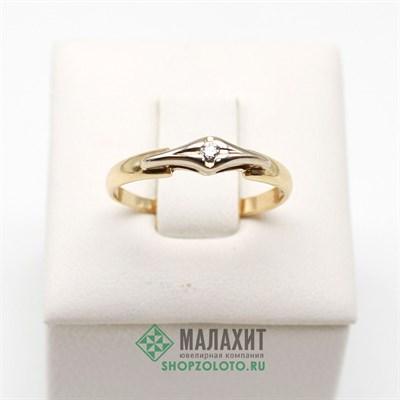 Кольцо из золота 1,32 гр. с бриллиантами, 16,5 размер