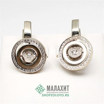 Серьги из золота 12,43 гр. с бриллиантами