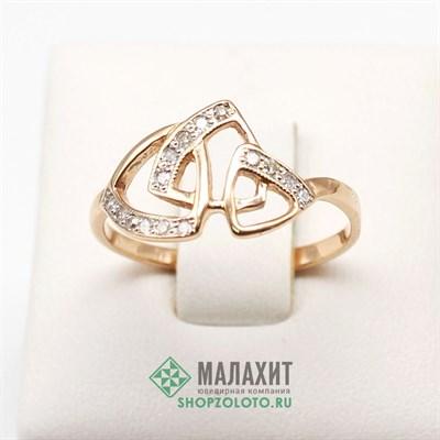 Кольцо из золота 1,63 гр. с бриллиантами, 17 размер