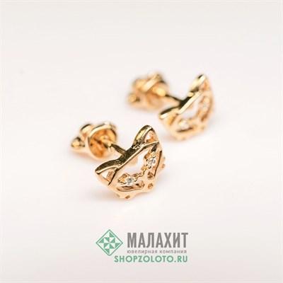 Серьги из золота 1,13 гр.