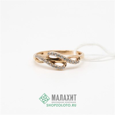 Кольцо из золота 1,46 гр., 16 размер