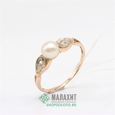 Кольцо из золота 1,84 гр., 18 размер