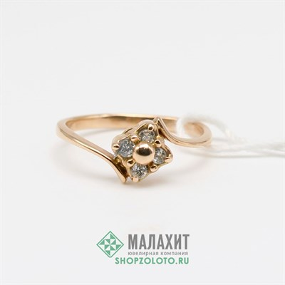 Кольцо из золота 2,06 гр., 17 размер