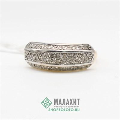 Кольцо из золота 1,99 гр. с бриллиантами, 17 размер