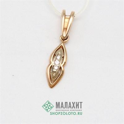 Подвеска из золота 1,06 гр. с бриллиантами