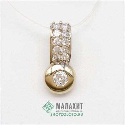 Подвеска из золота 2,62 гр. с бриллиантами
