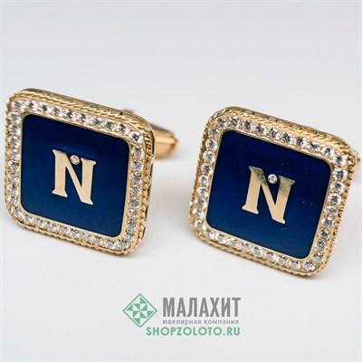 Запонки из золота 20,67 гр. с бриллиантами