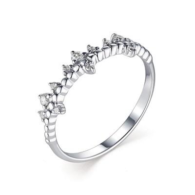 Кольцо из серебра с фианитами.