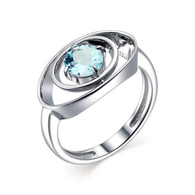 Кольцо из серебра с топазом sky blue