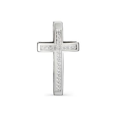 Крестик из серебра с фианитовой обсыпкой.
