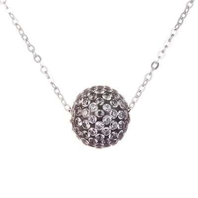 Колье из серебра с серым кубическим цирконием