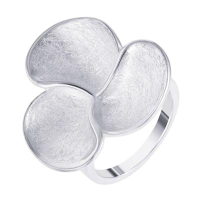 Кольцо из серебра «Трехлистник»