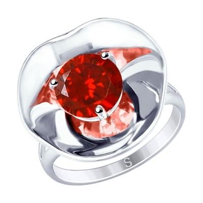 Кольцо SOKOLOV из серебра с фианитом