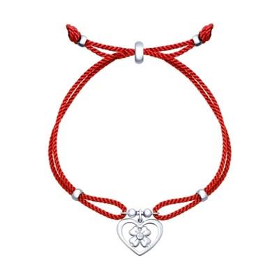 Браслет с серебром SOKOLOV «Сердце»