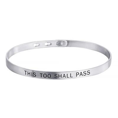 Браслет из серебра THIS TOO SHALL PASS