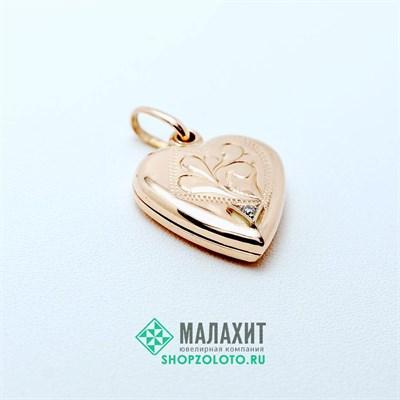 Подвеска из золота 3,35 гр. с бриллиантами