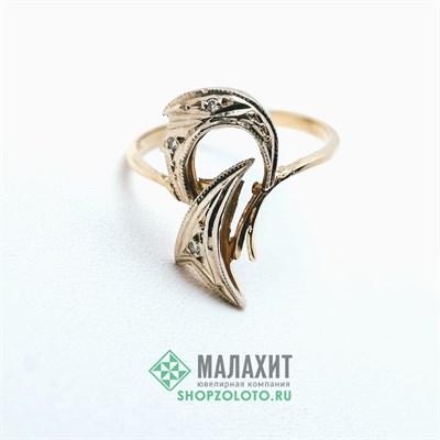 Кольцо из золота 2,37 гр. с бриллиантами, 17,5 размер