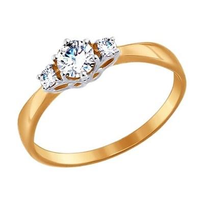 Кольцо из золота SOKOLOV с фианитами
