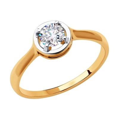 Кольцо из золота SOKOLOV с фианитом
