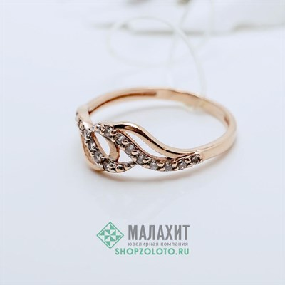 Кольцо из золота 1,1 гр., 15 размер