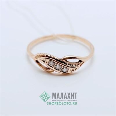 Кольцо из золота 1,22 гр., 16,5 размер