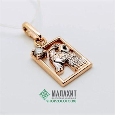 Подвеска из золота 2,25 гр. с бриллиантами