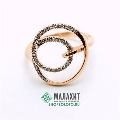 Кольцо из золота 2,27 гр. с бриллиантами, 16,5 размер