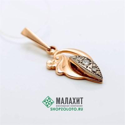 Подвеска из золота 1,82 гр. с бриллиантами
