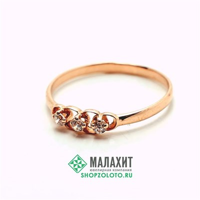 Кольцо из золота 1,07 гр., 17,5 размер