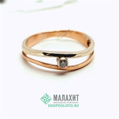 Кольцо из золота 1,86 гр., 17 размер