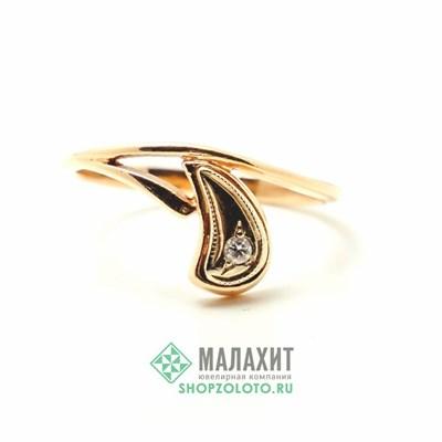 Кольцо из золота 2,36 гр. с бриллиантами