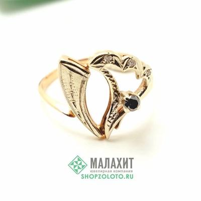 Кольцо из золота 2,34 гр. с бриллиантами