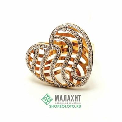 Кольцо из золота 7,73 гр. с бриллиантами, 17 размер