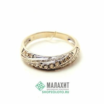 Кольцо из золота 2,03 гр. с бриллиантами, 16 размер