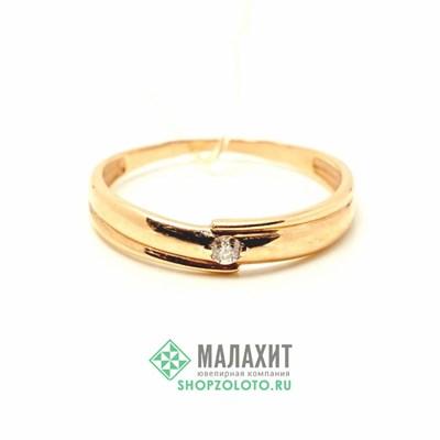 Кольцо из золота 1,4 гр. с бриллиантами, 16 размер