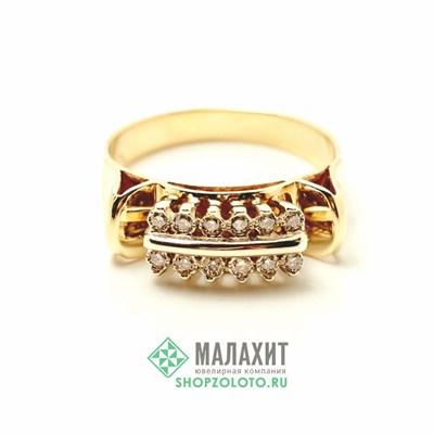Кольцо из золота 4,66 гр. с бриллиантами, 18,5 размер