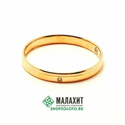 Кольцо из золота 2,14 гр. с бриллиантами, 19,5 размер