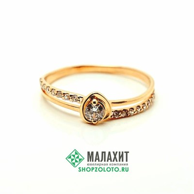 Кольцо из золота 1,28 гр., 17 размер