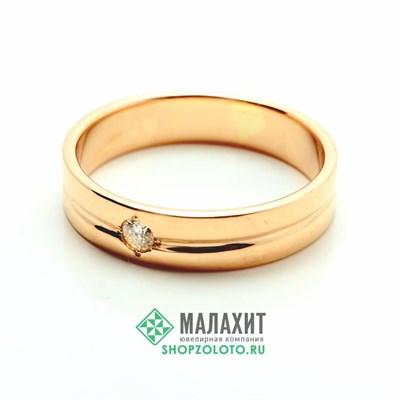 Кольцо из золота 5,11 гр. с бриллиантами, 20 размер