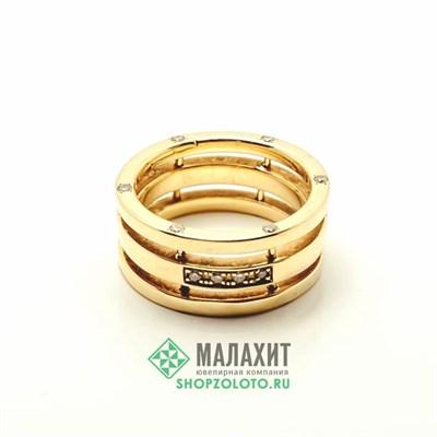 Кольцо из золота 8,95 гр. с бриллиантами, 16,5 размер